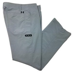 Under Armour 34x32 Gray Flat Front Golf Pants